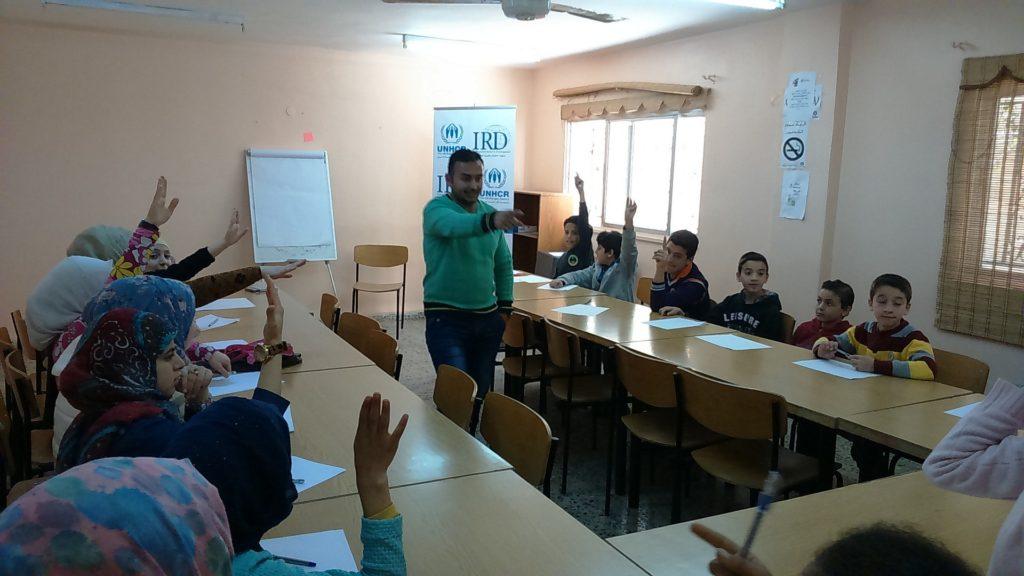An English class at Zarqa CBO