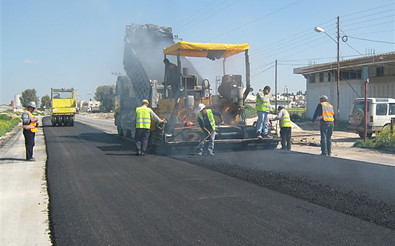 Gaza road construction