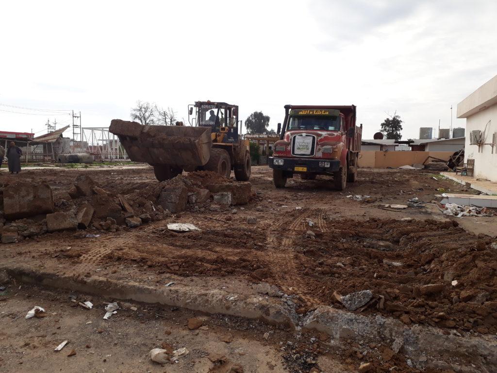 Site preparation for Hawija Hospital's pediatrics department in December 2018.