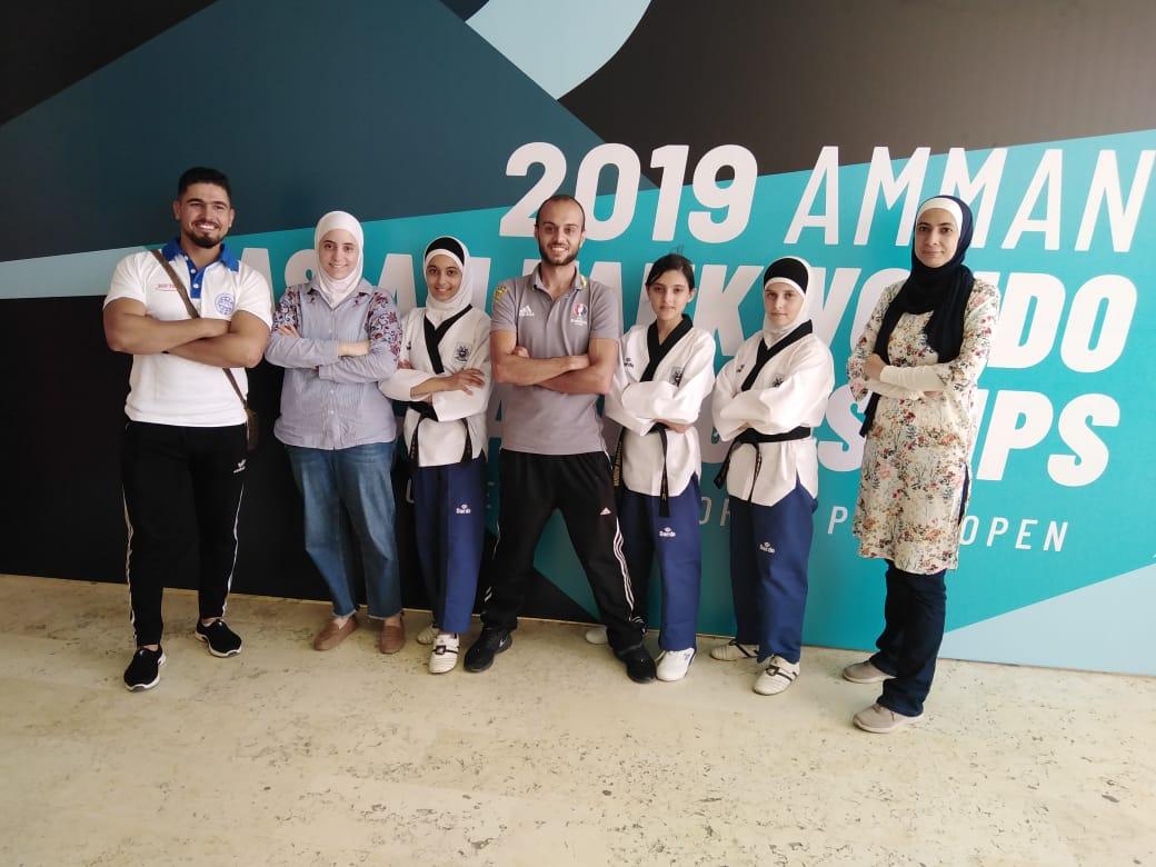 Team from Zaatari Camp at the Asian Taekwondo Championship