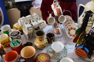 ceramics display at a bazaar in Karak_bazaars 2019