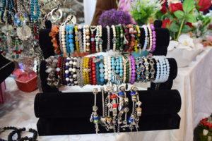 Jewelry on display at the November 28 bazaars in Karak