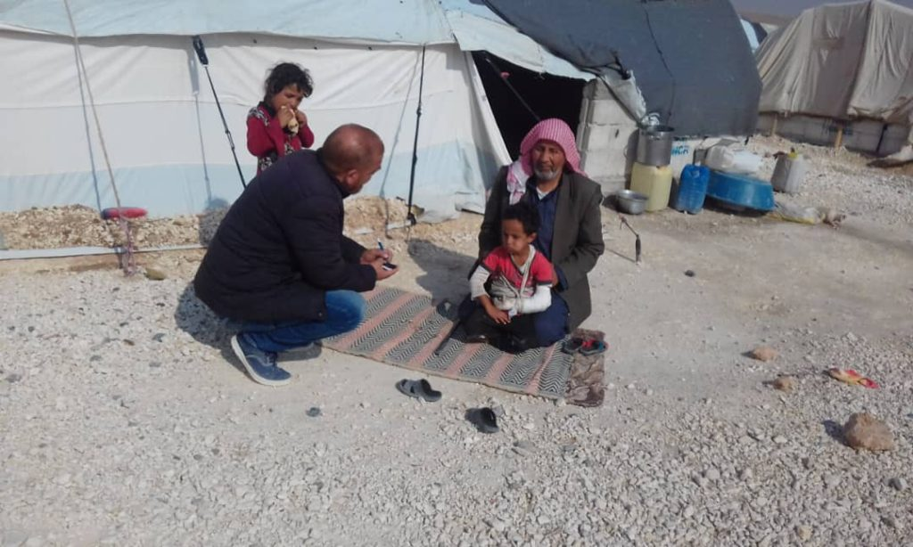 Mohammed meeting with Blumont caregivers